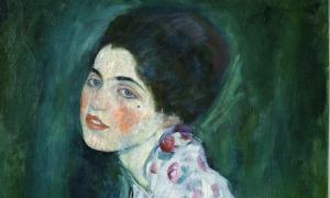 Portrait of a Woman by Gustav Klimt.
