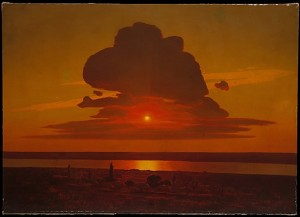 red sunset on the Dnieper by Arkhip Ivanovich Kuindzhi