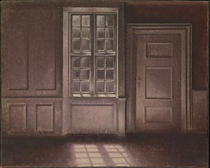 painting by: Vilhelm Hammershoi