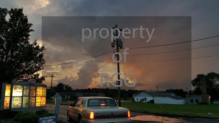 suburbia sunset